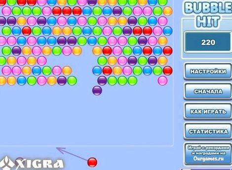 Подводная стрелялка цветными шариками